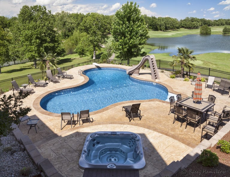 Inground Vinyl Pools Arkansas Pool Contractors Elite Pools By Aloha